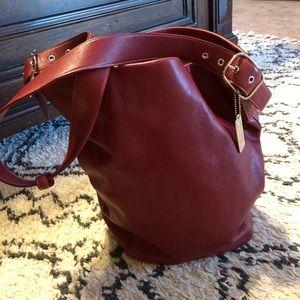 Vintage Coach Bucket Leather Bag